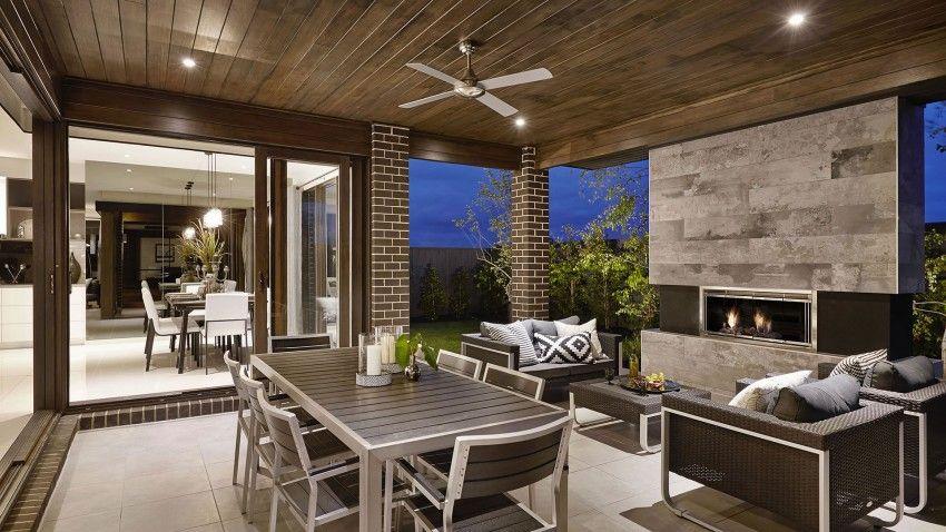Casa de dos pisos moderna con hermosa fachada estilizada for Fachadas de casas interiores