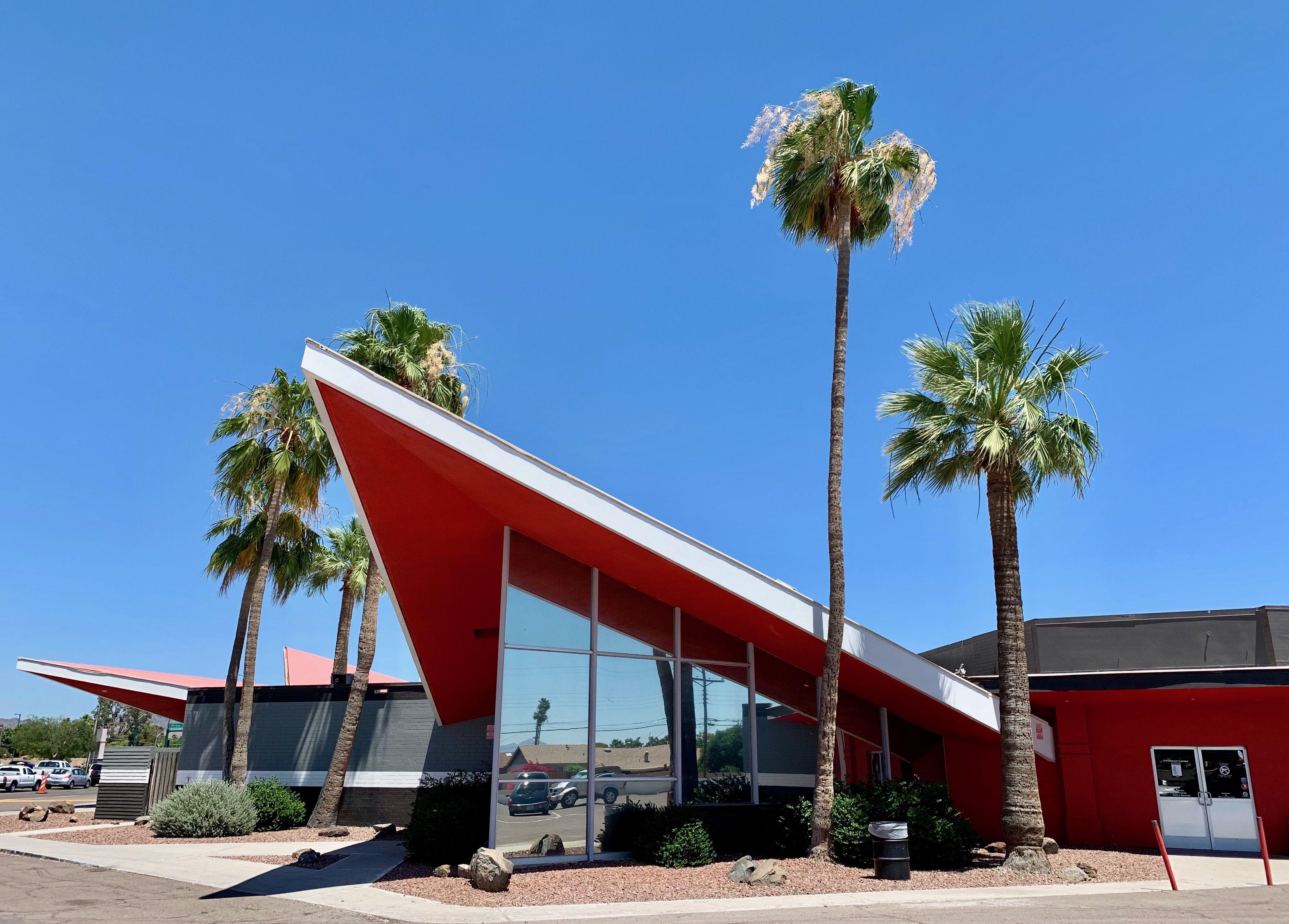 Bowlero Christown Phoenix 1962 1965 Bethany Home Mirrored Glass Arizona