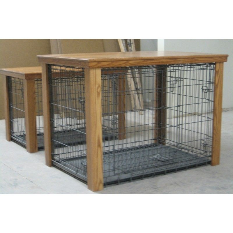 Wooden Table Dog Crate Cover Malm Woodturnings Kat