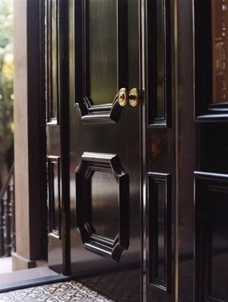 Fairfax and Sammons black lacquer front door & Fairfax and Sammons black lacquer front door | Make an entrance ...
