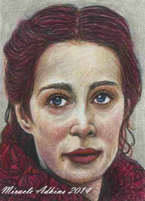 ACEO GAME OF THRONES Melisandre Carice van Houten Portrait Card by MIRACLE  #Miniature