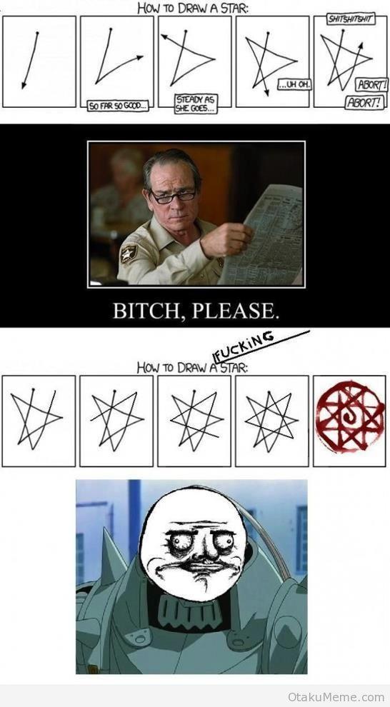 How to draw a star?   Anime memes funny, Anime funny, Fullmetal alchemist