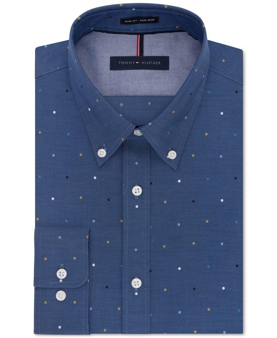 Tommy Hilfiger Dot Print Shirt Camisa para Hombre