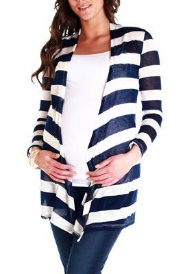 Navy-Blue-White-Striped-Maternity-Cardigan  d1f397fcc