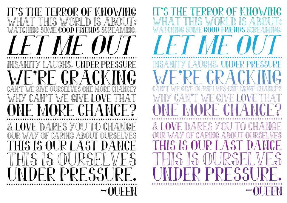 Under Pressure lyrics by Queen and David Bowie. Available on t ...