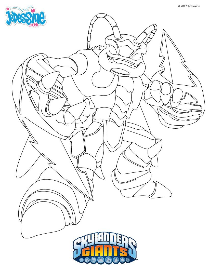 Free coloring pages for skylanders - Skylanders Giants Coloring Pages
