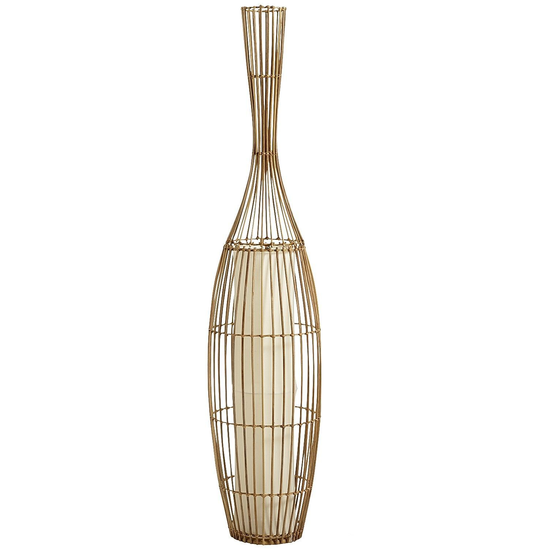 Wicker vase floor lamp natural san diego living room wicker vase floor lamp natural reviewsmspy