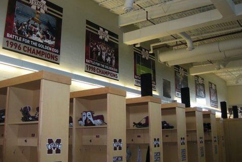 Football Locker Room Mississippi State University Athletics Advent Nashville Tn Mississippi State Locker Room Mississippi State University