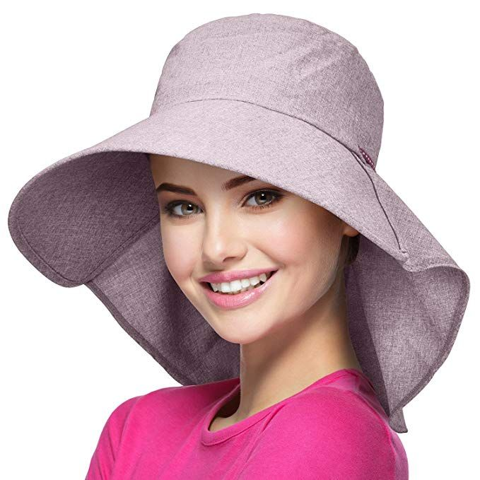 21d0056c24809 Womens Wide Brim Sun Protection Hat w Flap Neck Cover for Summer Safari  Hiking Review