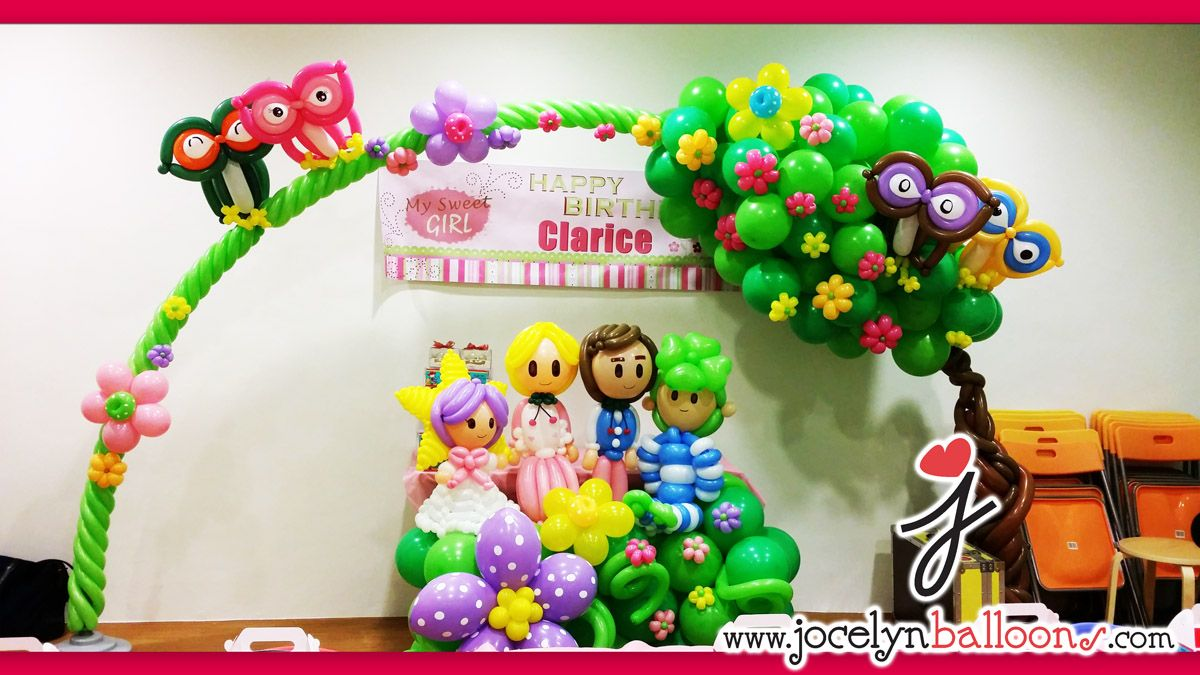 Owl Balloon Decorations Senhorita Jocelyn Artista Do Balo Cingapura Toro E