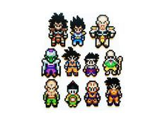 Dragon Ball Z Characters Perler Sprites Choose by ShowMeYourBits
