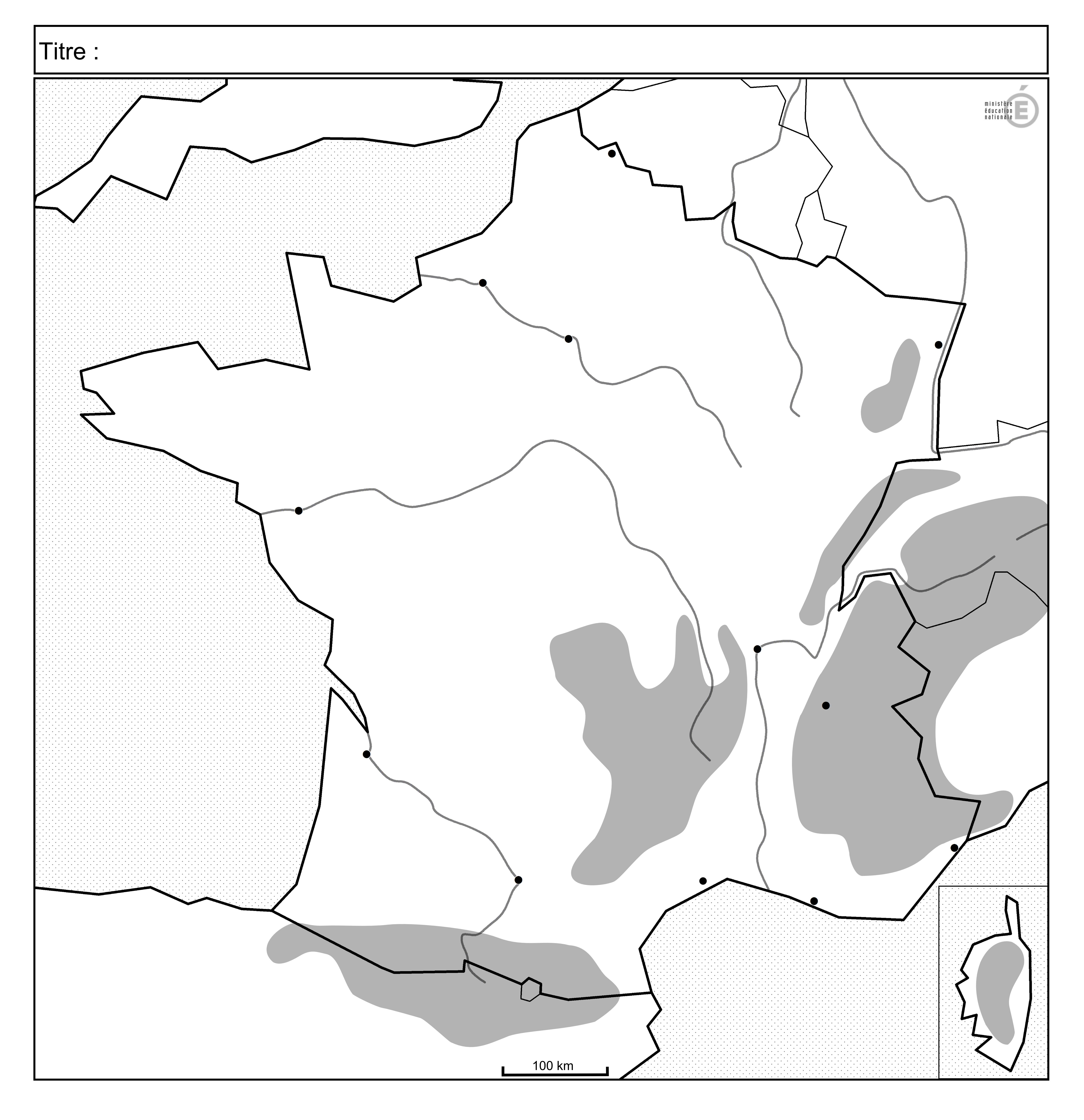 carte de france vierge avec fleuves Carte De France Muette Avec Fleuves Et Montagnes | My blog (avec