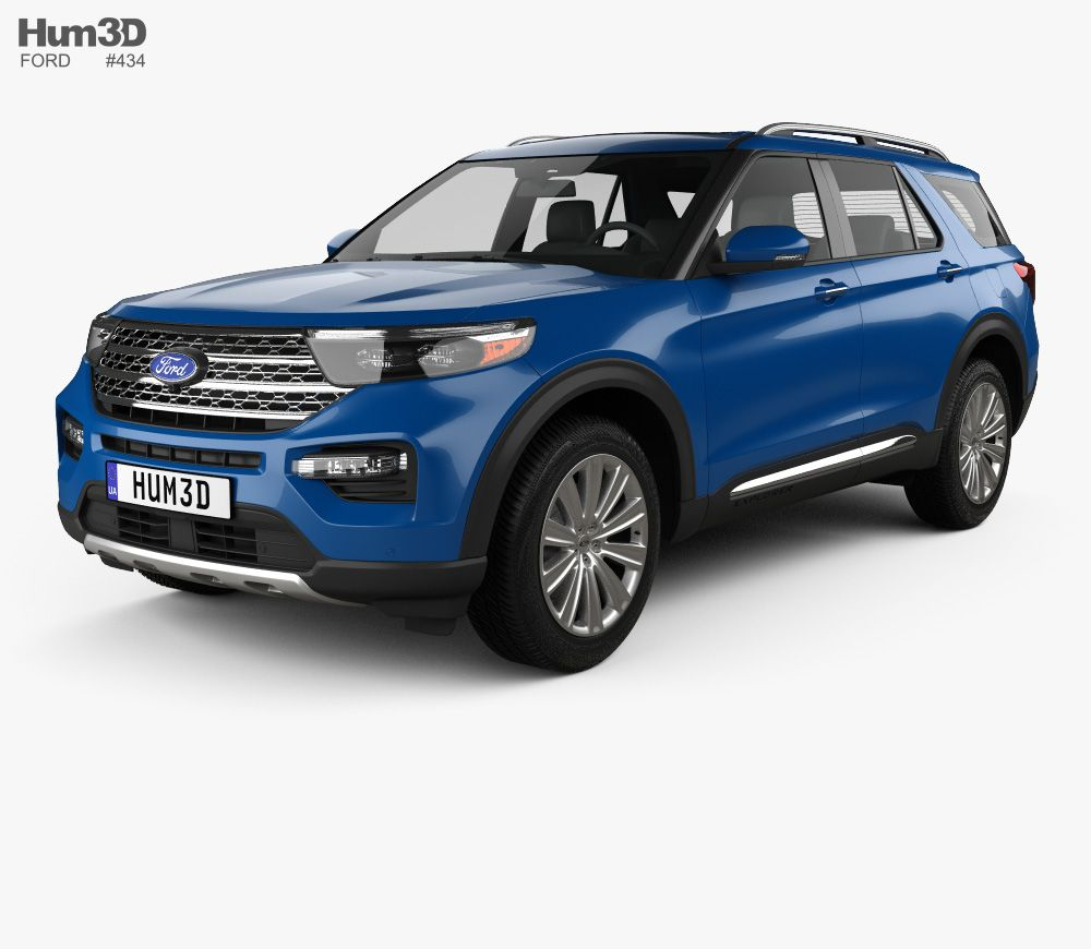 3d Model Of Ford Explorer Limited Hybrid 2020 Autos Y Motos Autos Motos