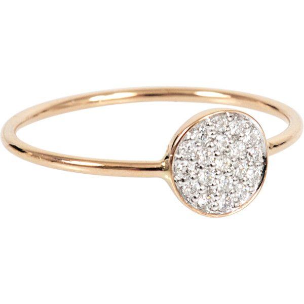 Mini Diamond Ever 18-karat rose gold Disc ring Ginette NY ARKbbgJH9Q
