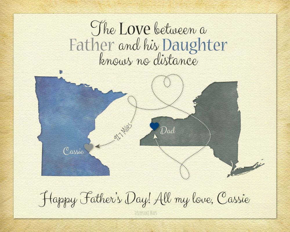 Father's Day Gift, Long Distance Gift, Birthday Gift for Dad, Father and  Daughter