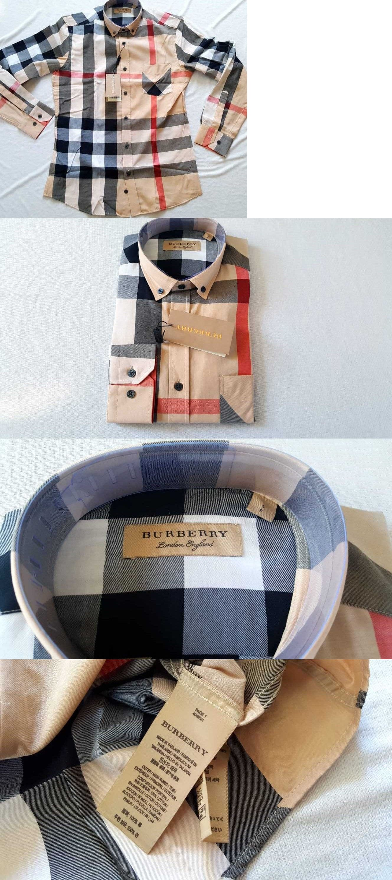 d6a9940c Casual Button-Down Shirts 57990: Burberry London Mens Camel Casual ...