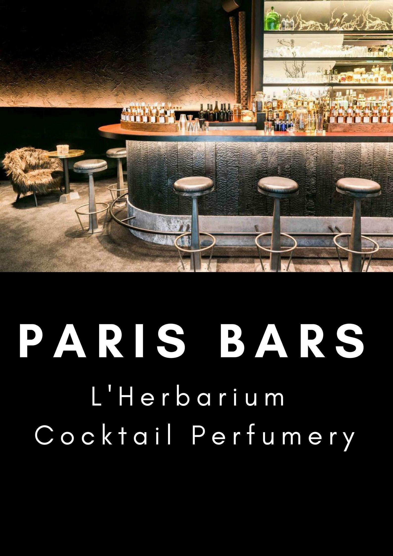 l'Herbarium Bar: Paris' First Cocktail Perfumery