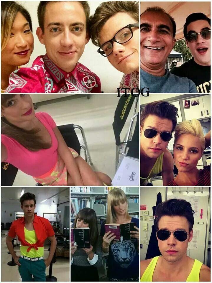 Glee season 6 set and can I just say that Chord (Sam Evans