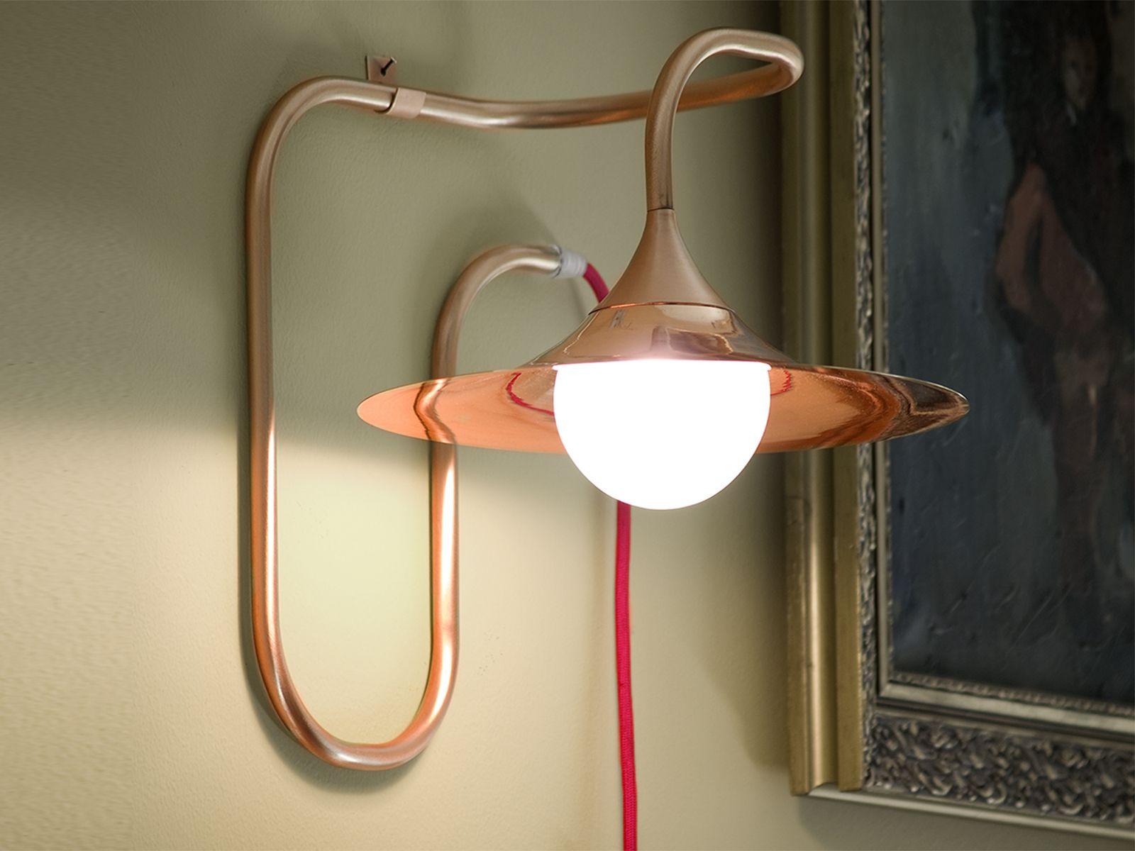 Lampade Rustiche In Rame : Turbaya lampada da parete in rame lampade rame pinterest