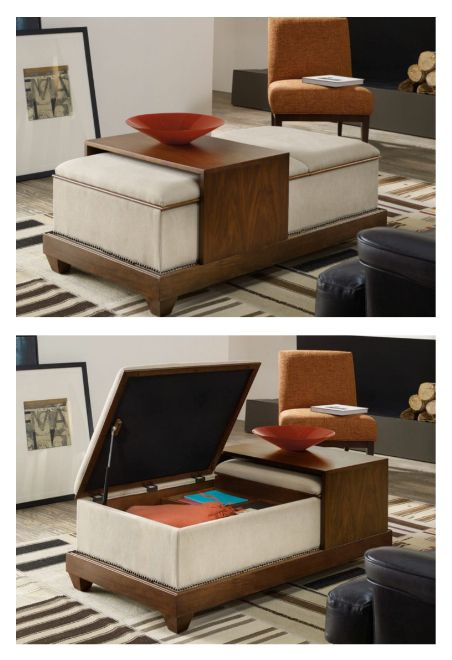 More Than A Tail Table Sybil Is Cool Clutter Buster With Sliding Wooden