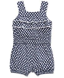 First Impressions Baby Girls' Star-Print Ruffle Romper, Only at Macy's