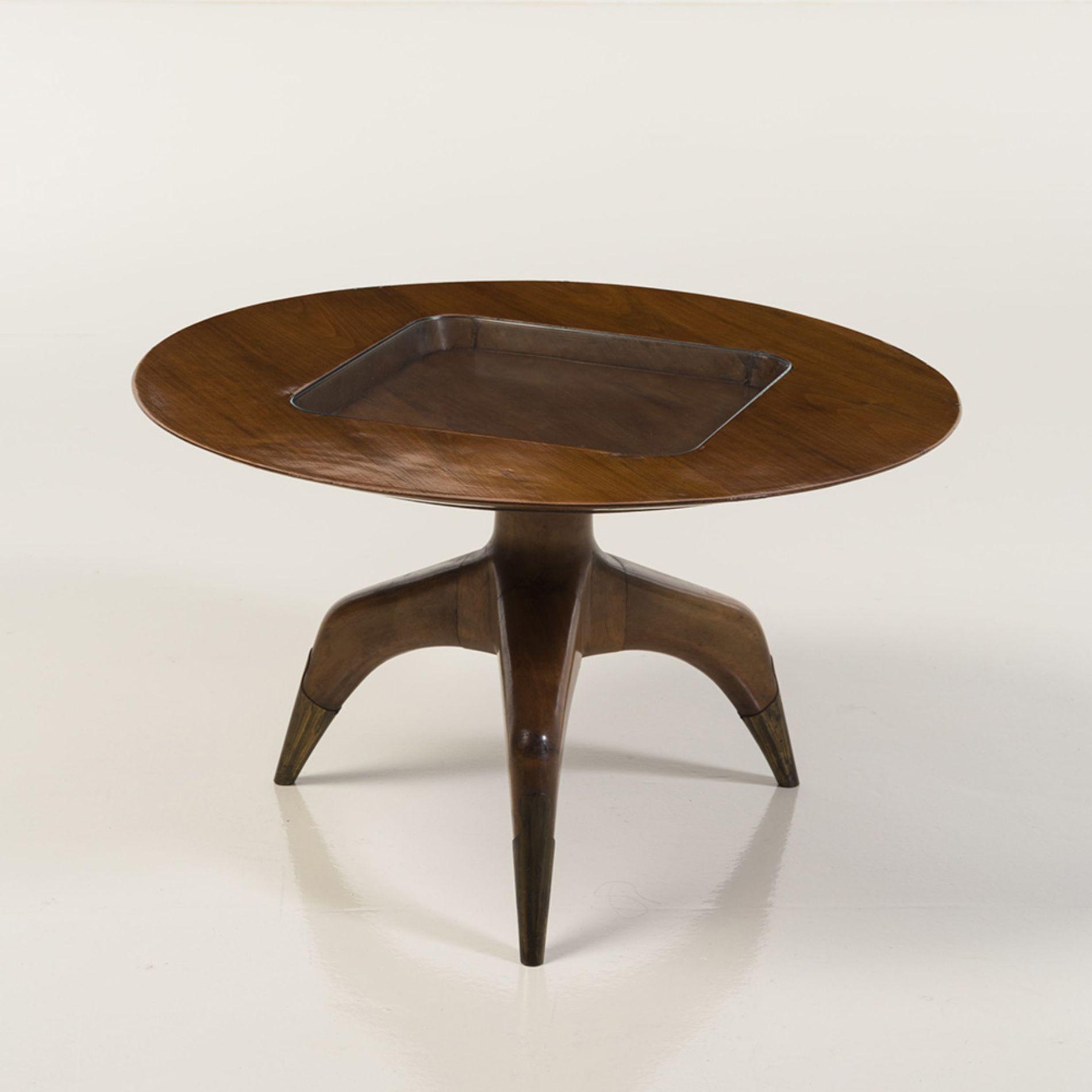 1940s Gio Ponti Table Basse Noyer Et Laiton Date De Creation
