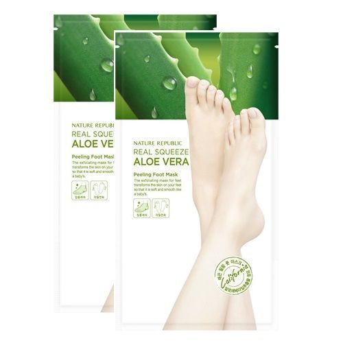 Nature Republic Foot & Nature Foot Peeling Mask 2 Pairs - Strawberrycoco