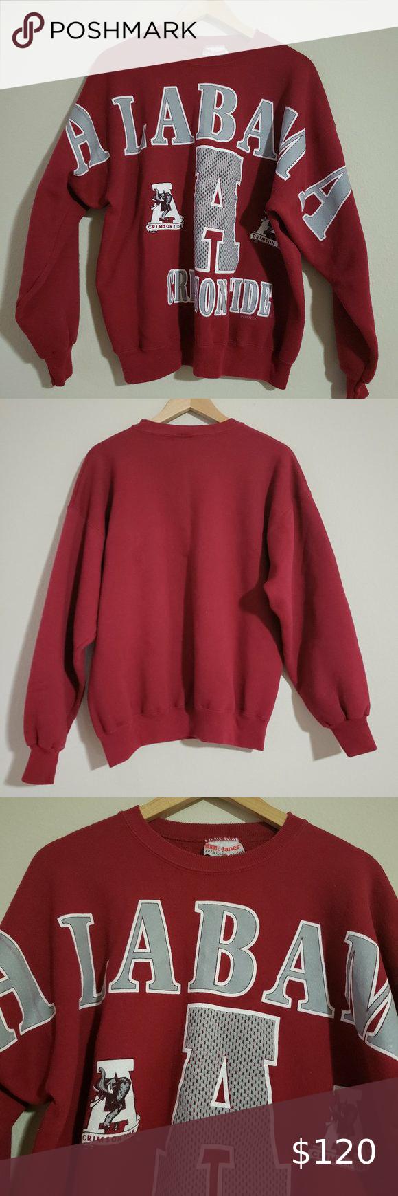 Vintage Alabama Crimson Tide Sweatshirt Xl Sweatshirts Sweatshirt Shirt Alabama Crimson Tide [ 1740 x 580 Pixel ]