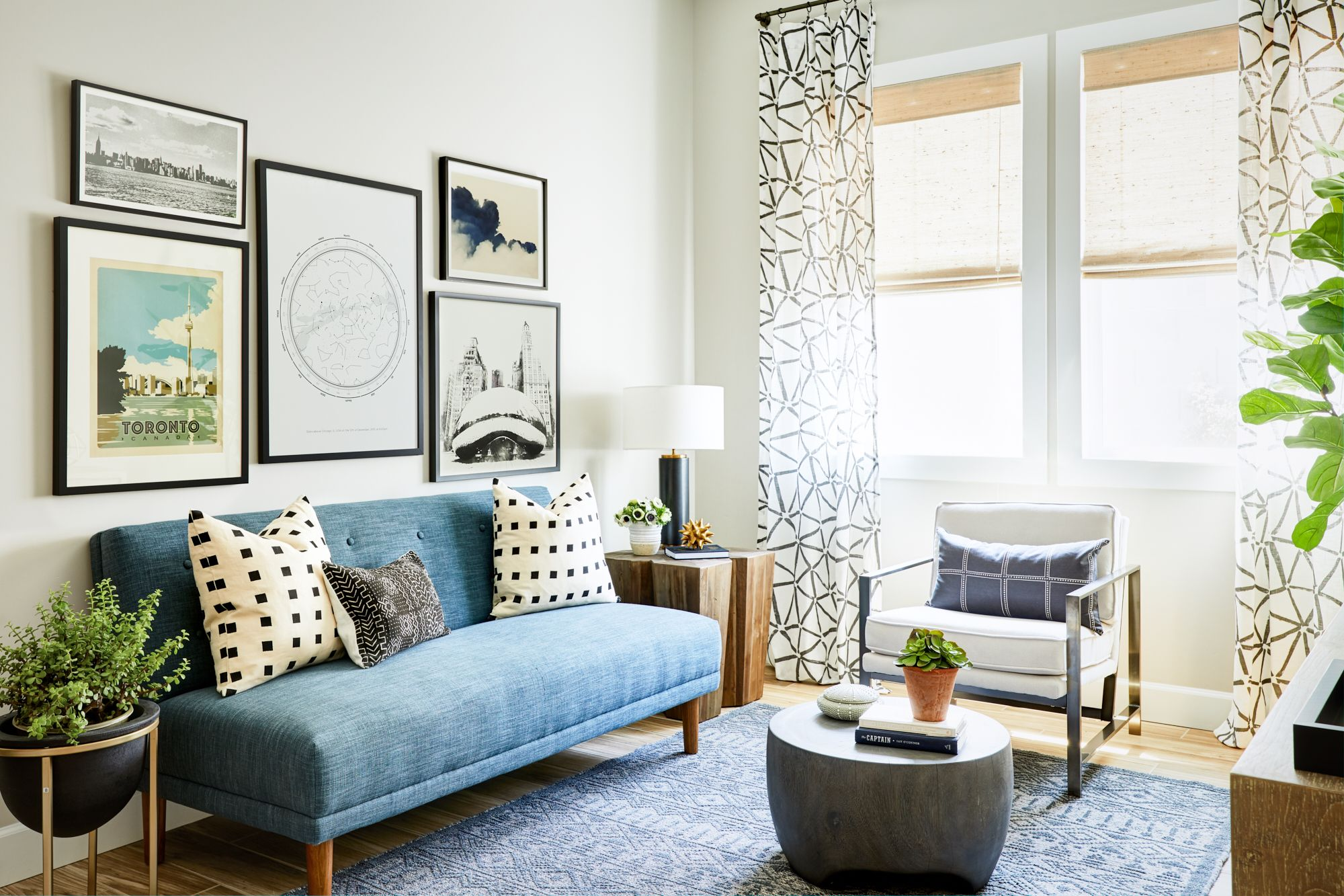 38th Street Project Reveal Den Interior design, Room