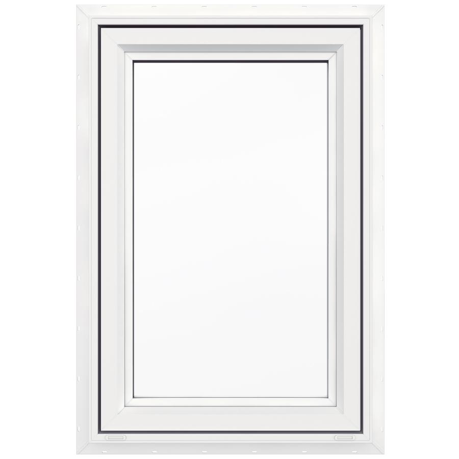 Jeld Wen V 4500 23 5 In X 35 5 In X 1 Lite Vinyl New Construction White Casement Window Lowes Com Casement Windows Casement New Construction
