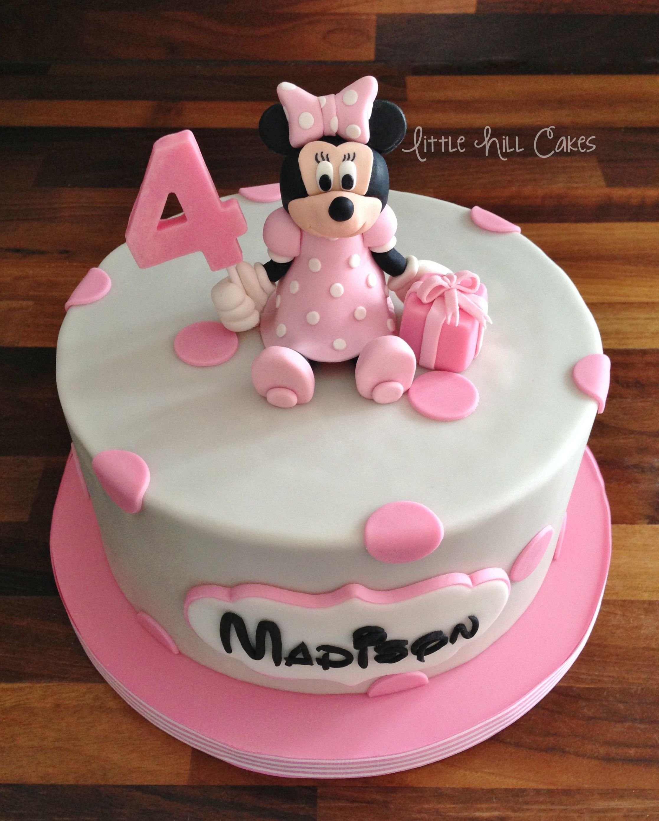 Awe Inspiring Minnie Mouse Birthday Cake With Images Minnie Mouse Birthday Personalised Birthday Cards Paralily Jamesorg