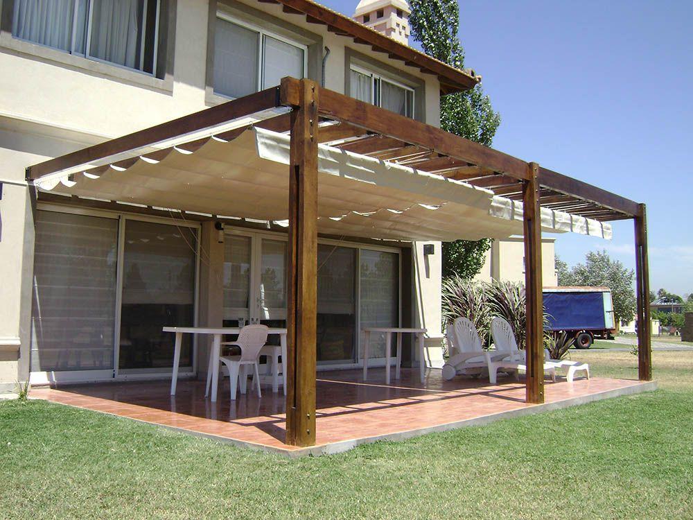 Toldo de tipo romano extendido dvoriste en 2019 - Tipos de toldos para patios ...