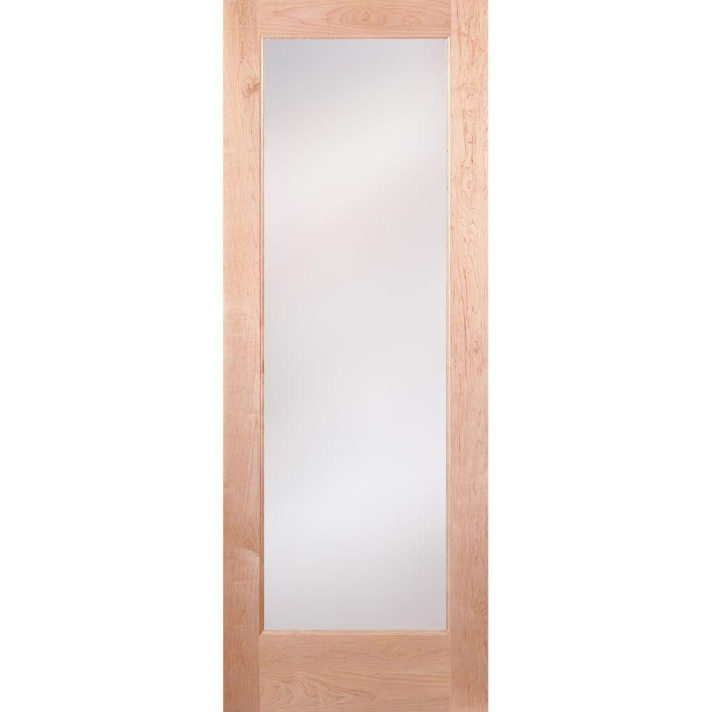 Feather River Doors 36 In X 80 In 1 Lite Unfinished Maple Privacy