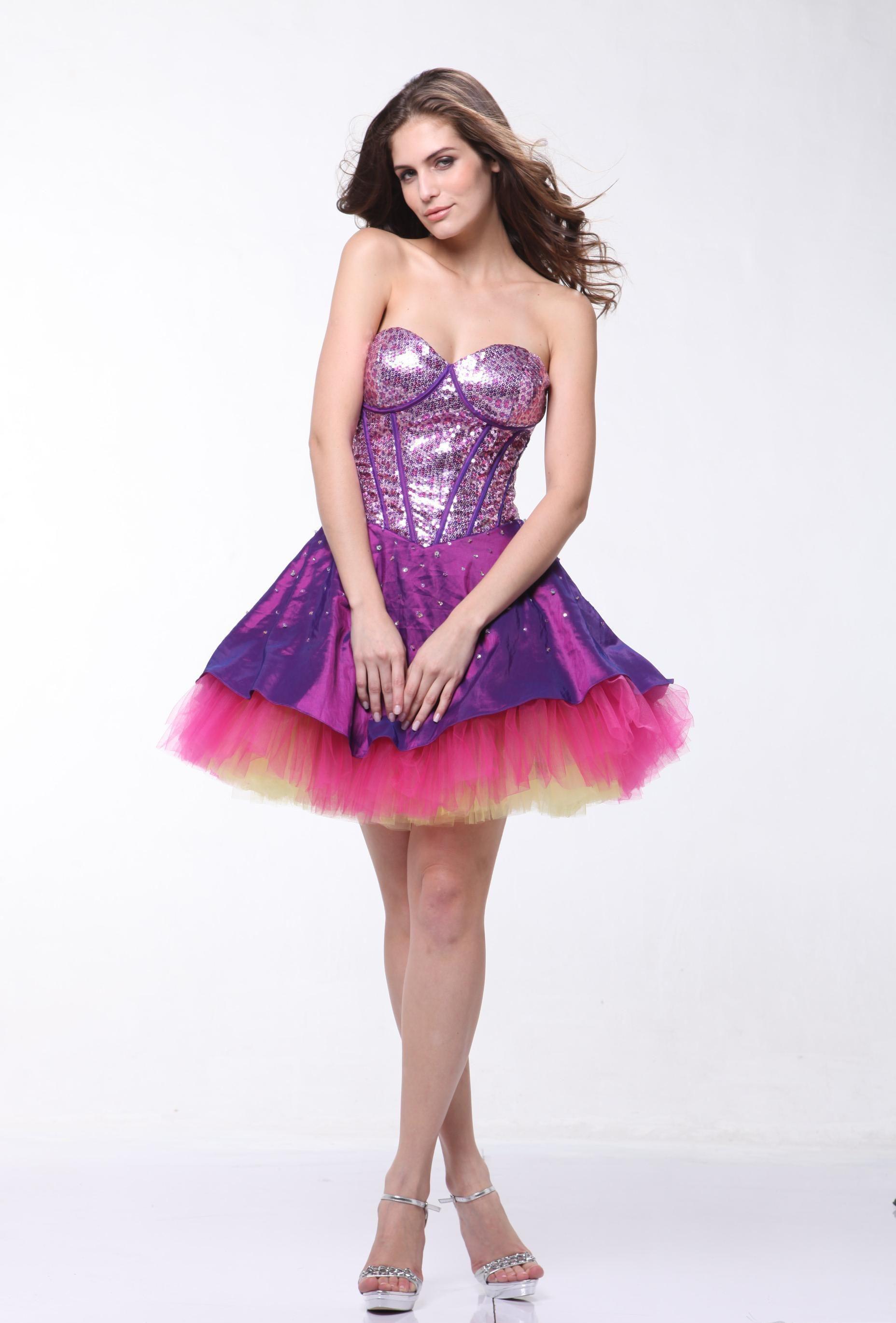 Pink And Purple Bridesmaid Dresses