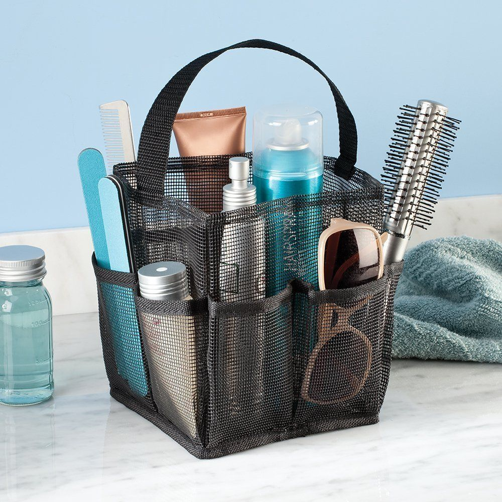 Shower Caddy Dorm Tote Shampoo Conditioner Soap Black Mesh NEW ...