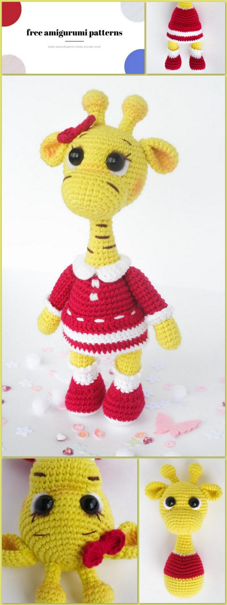 Crochet Giraffe PATTERN Amigurumi giraffe pattern pdf tutorial ... | 2048x768