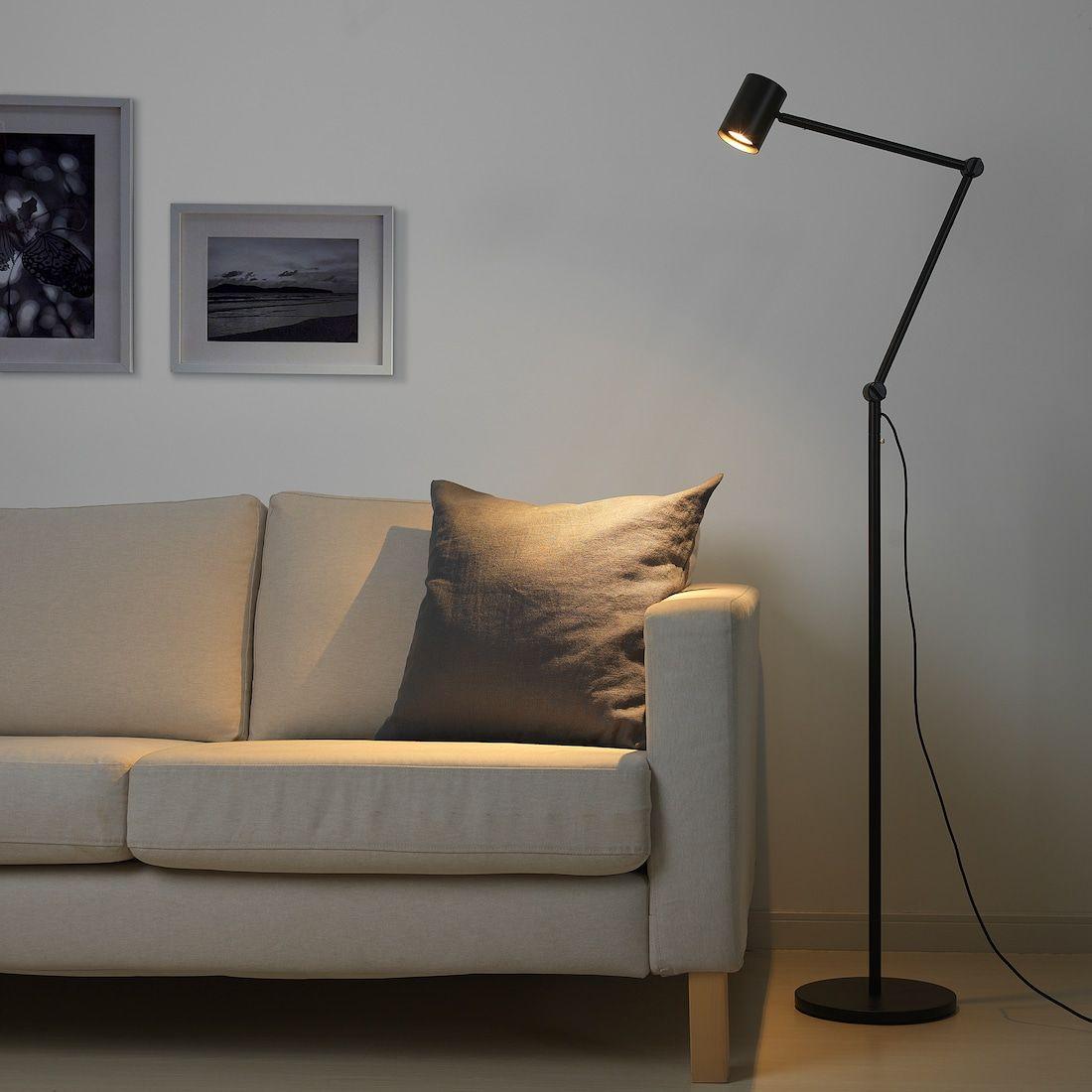NYMÅNE Golv läslampa, antracit IKEA in 2020 | Reading