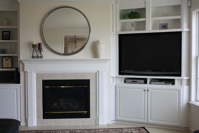 custom built in bookcases traditional family room nussi. Black Bedroom Furniture Sets. Home Design Ideas