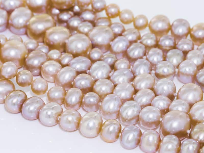 3 rows 7.5-8.5mm brown freshwater pearl bracelet nature wholesale beads