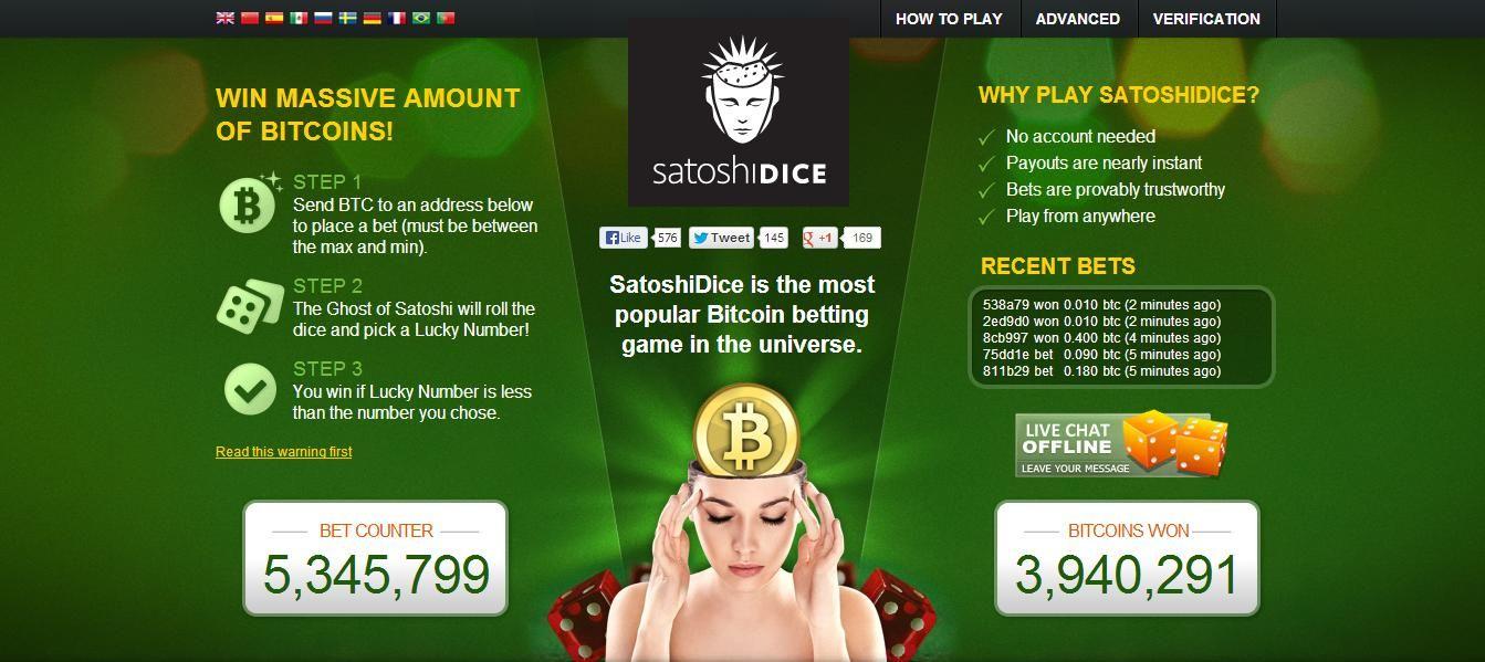 Bitcoin Gambling Site SatoshiDice Sold for 11.5 Million