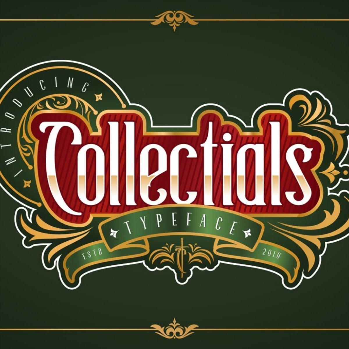 Collectials Classic Fonts Vintage Logo Design Fonts
