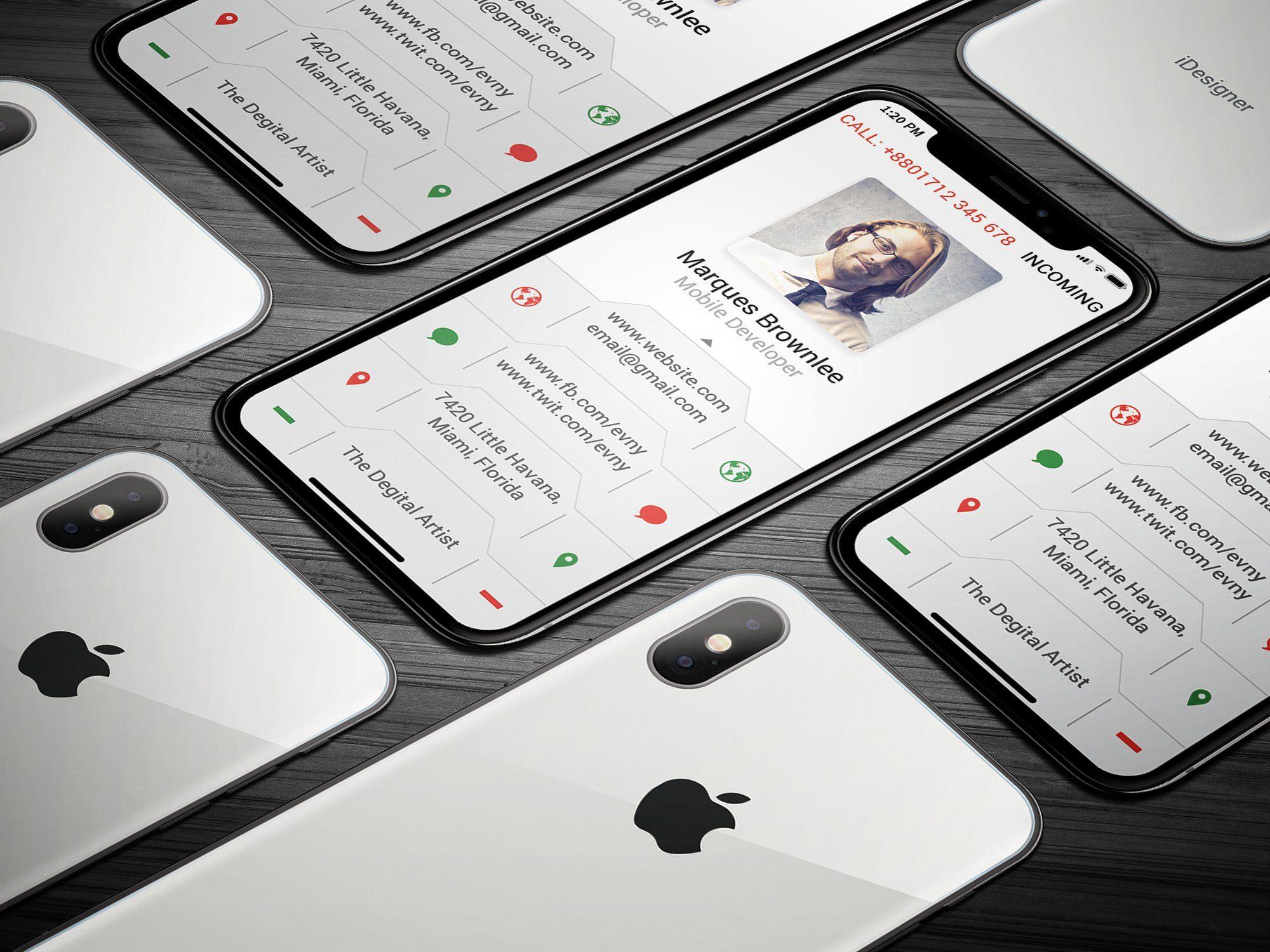 Carte De Visite IPhone X Business Card BLEEDDPIliFEATURES Cards Visit