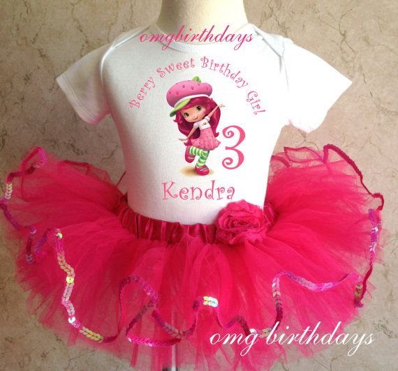 Strawberry Shortcake Pink Birthday Personalized Name Age