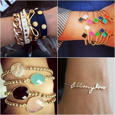 Trend Bracelets Ideas You Need To Try! http://www.ferbena.com/trend-bracelets-ideas-you-need-to-try.html