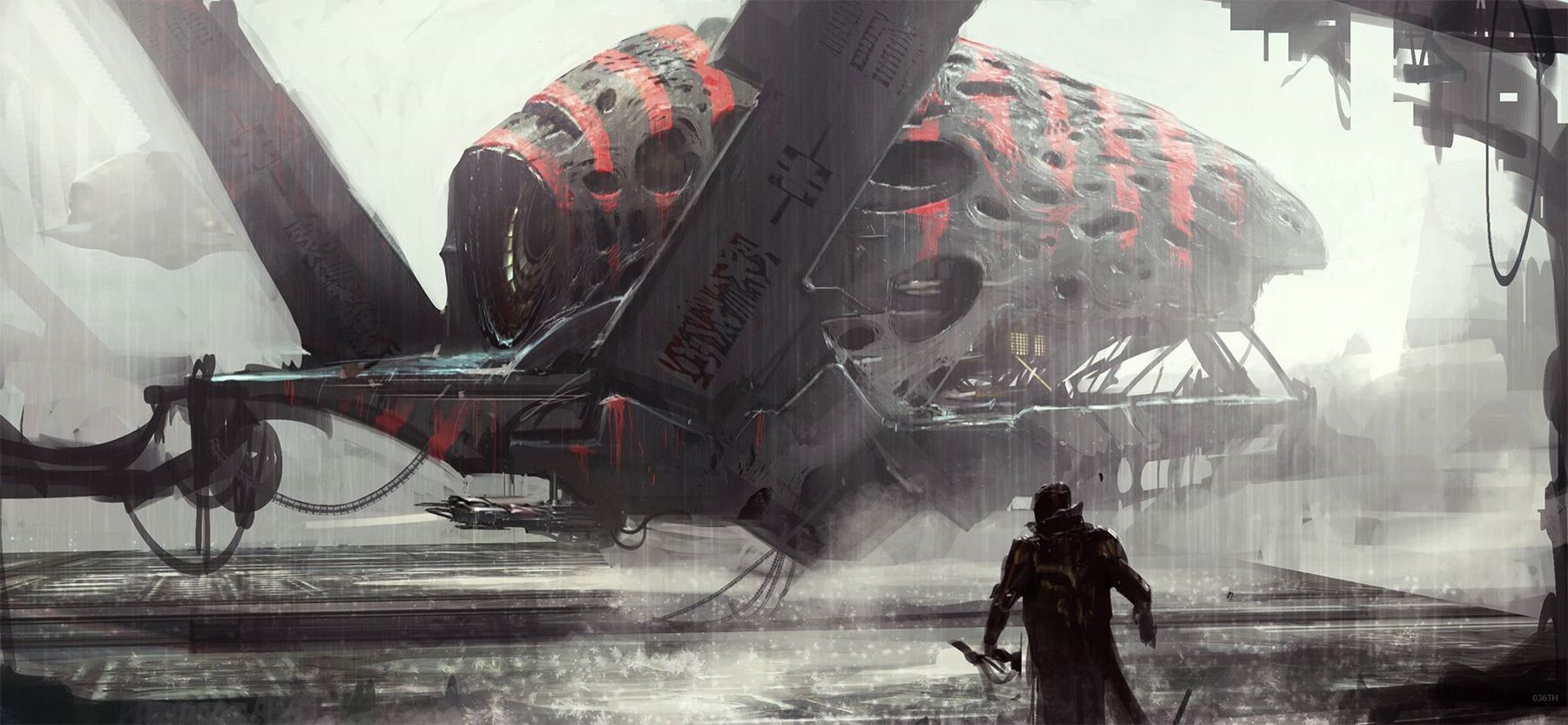 concept ships: Guardians of the Galaxy concept art by Atomhawk Design Ltd.