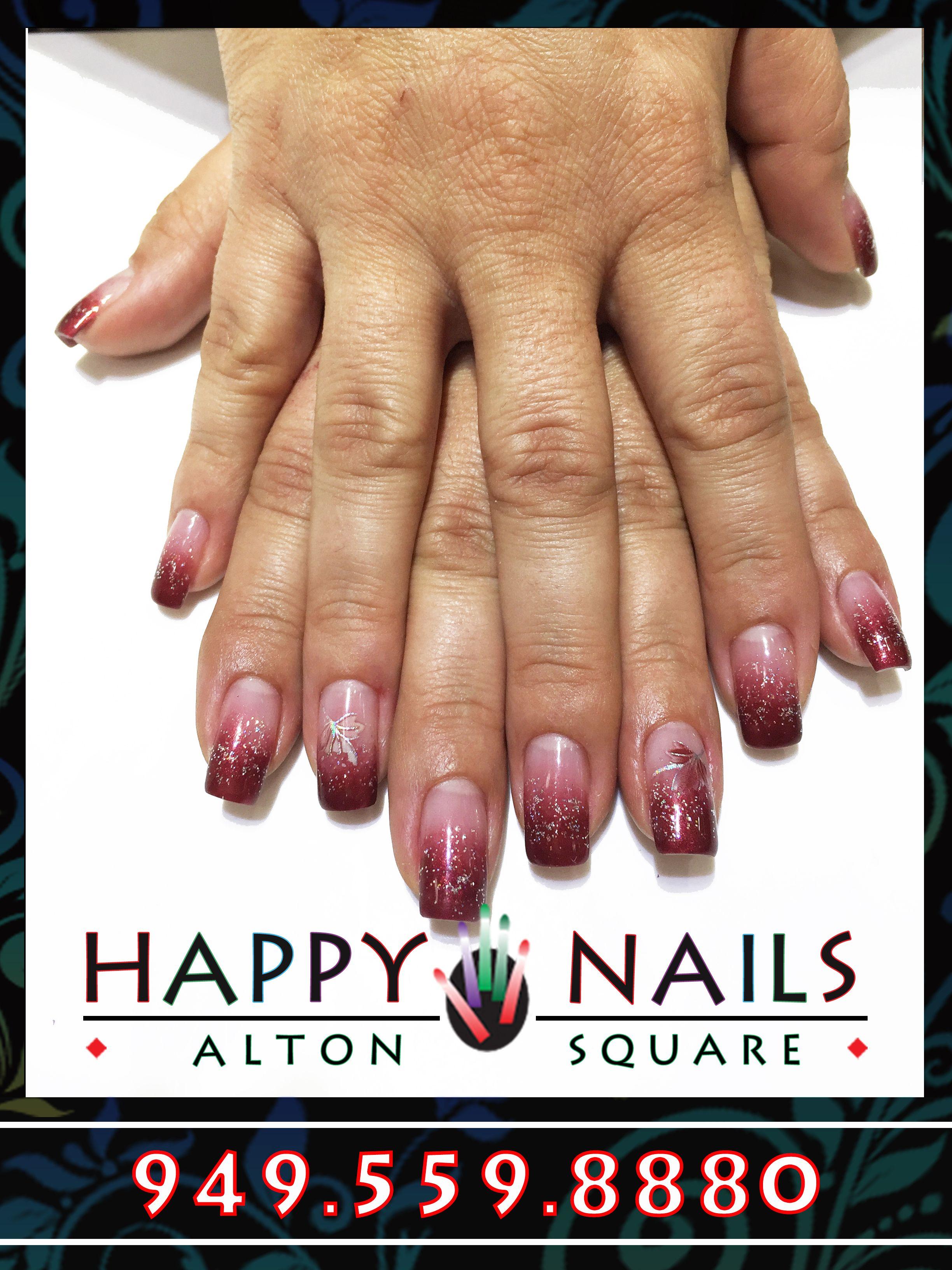 Ombre design by Joyce | Happy Nail of Alton Irvine | Happy nails ...