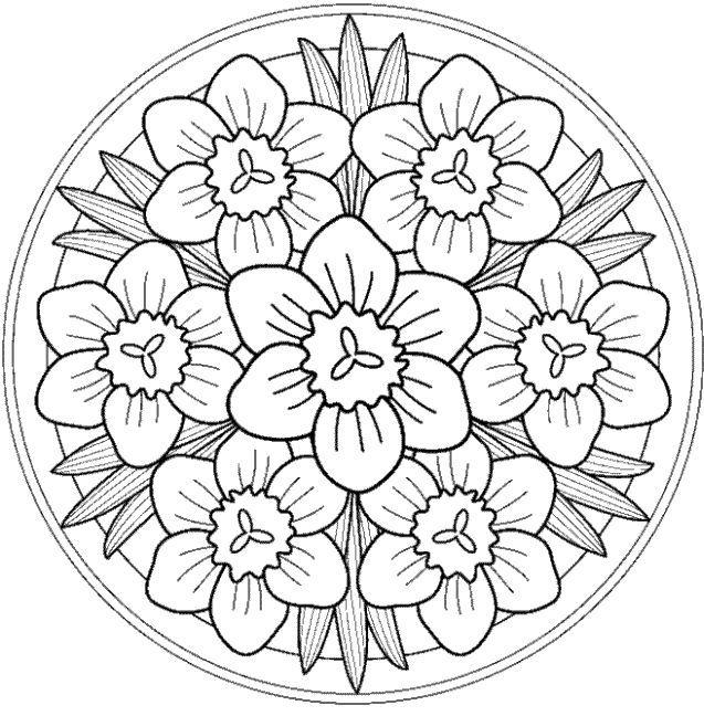 mandalas de primavera hoy os dejamos estas estupendas mandalas para colorear con dibujos de primavera