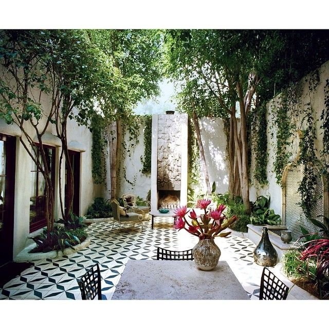 """""""Dream Courtyard ♡ Photographed by #FrancoisHalard for #Vogue May 2013"""" Photo taken by @boholuxeinteriors on Instagram, pinned via the InstaPin iOS App! http://www.instapinapp.com (03/12/2015)"""