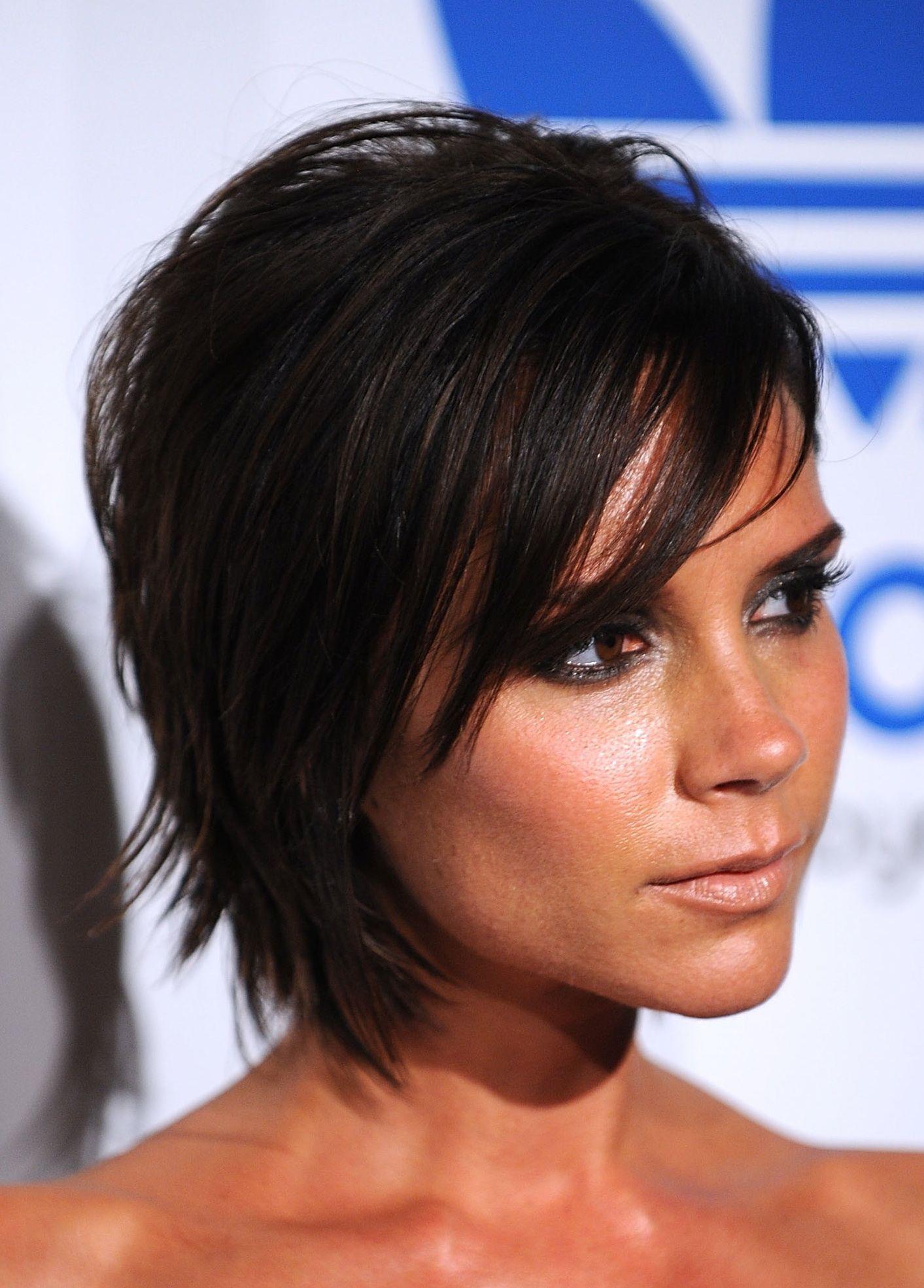 Victoria Beckham Hair Over the Years  Beckham hair Short dark