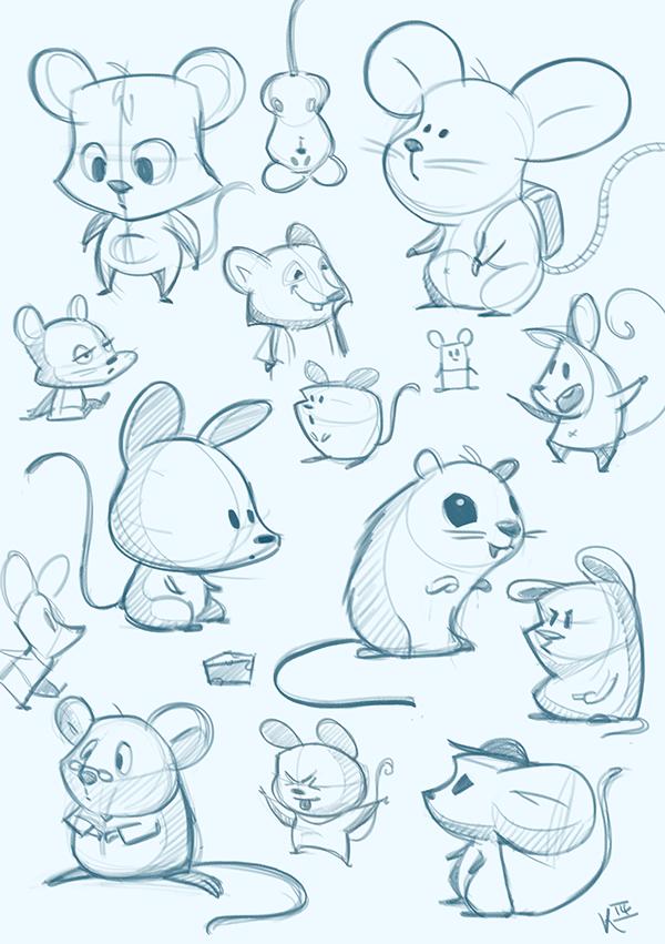 Милые животные рисунки карандашом поэтапно